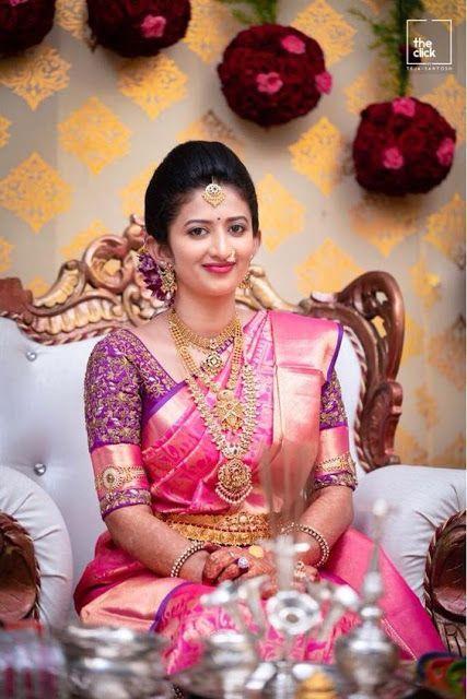 South indian wedding saree, top wedding kanchipuram silk saree,